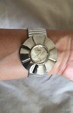 Ladies Very Fashionable Sexy Silver TORQ Quartz Wrist Watch - Classy Bracelet