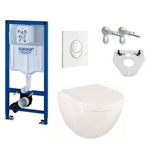Grohe Rapid SL Design Wand WC mit Sitz spülrandlos Komplettset Vorwandelement