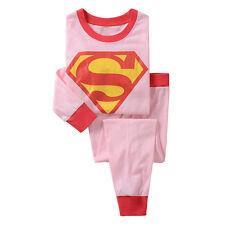 Children Kids Boys Girls Cartoon Sleepwear Nightwear Pj's Pyjamas Set Outfits