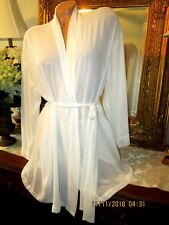 VICTORIA'S SECRET Sexy Sheer Ivory wrap robe ONE SIZE lingerie