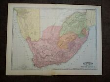 1894 Map Of South Africa - Large Format Map - Nice Colors - Large Scale