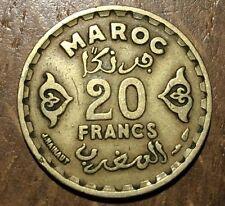 PIECE DE 20 FRANCS MAROC 1371 (126)