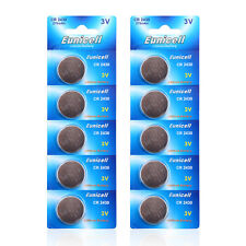 10 x EUNICELL CR2430 3V Lithium Batteries  BR2430  DL2430 Button Cell Battery
