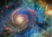 A1 Solar System Swirl Poster Art Print 60 x 90cm 180gsm Galaxy Stars Gift #15522