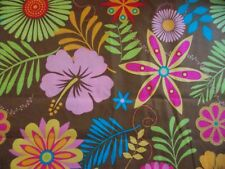 WtW Fabric Floral Flower Power Mod Retro Garden Tropical BTY Quilt