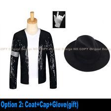 Mj Jackson Coat Billie Jean Jacket & Glove Modern Dance Cosplay Costume