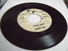 """SOUL R&B Popcorn 45 7"""" BOBBY DAY I NEED HELP / LIFE CAN BE BEAUTIFUL RR RECORDS"""