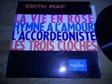 """EDITH PAIF """"LA VIE EN ROSE/HYMNE A L´AMOUR/L´ACCORDÉONISTE/LES TROIS CLOCHES""""EP"""