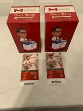 Harry Caray Bobblehead w/Voice Chip & Game Tickets 2015 St Louis Cardinals QTY2