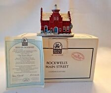 "Rhodes Studio ""Town Offices"",Main St. Cllctn By Norman Rockwell, #4669D,Coa,Nib"
