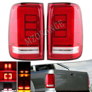 LED Sequential 2x Rear Tail Light Brake Lamps For Volkswagen Amarok 2H 2010-2021