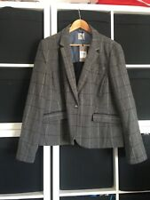 BNWT Tu Size 22 Grey Check Suit Jacket Blazer. (r5)