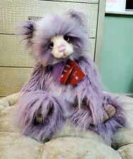 "CHARLIE BEARS 2019 PLUMO YEAR BEAR 18"" Limited Edition #11 Purple NEW TAGS"
