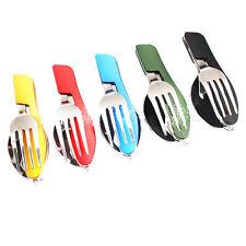 4 En 1 Multi-fonction Fourchette Cuillère Couteau Ouvre Camping Extérieur Sport