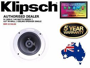 """Klipsch R-1650-C (Series 1) 140 Watts 6.5"""" In-Ceiling Speaker RRP: $159"""