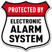 Protected By Electronic Alarm System Sign Vinyl Sticker (glass, bumper, window)