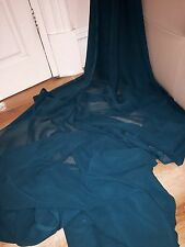 """5 MTR QUALITY TEAL COLOUR CHIFFON FABRIC...45"""" WIDE £12.49 SPECIAL OFFER"""