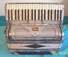 Morbidoni Midget 120 bass Gray pearl   Accordion 4 - 2 reg. Accordian G. Cond.