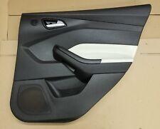 2012 Ford Focus Sedan Passenger Rear Door Interior Trim Panel Black White 1031f3