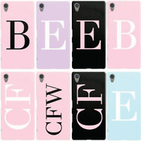 DYEFOR PERSONALISED INITIALS MONOGRAM PASTEL PHONE CASE COVER FOR SONY XPERIA