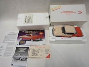 DANBURY MINT 1:24 DIE CAST 1955 OLDSMOBILE SUPER 88 HOLIDAY COUPE CORAL & SHELL