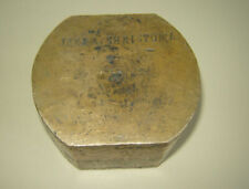 Rare antique late 19th-20th c brass dentist denture mould Zimmermann &Co Germany