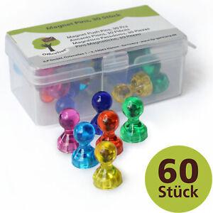 OfficeTree Magnet-Pins - 60 Neodym-Magnet-Kegel in 6 Farben