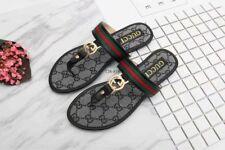 NEW Gucci Women's GG logo Sandals Black US Size 9