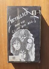 METALLICA - Home Vid: Cliff 'Em All! VHS Video Tape 1988