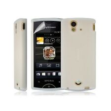 Shell silicone case cover for sony ericsson xperia ray color white + film