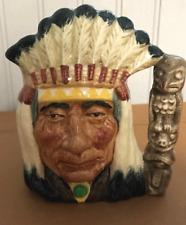 New ListingNorth American Indian character D6614 Small. Royal Doulton Toby Mug Jug