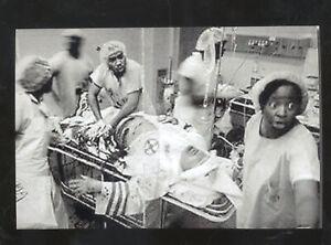 REAL PHOTO BLACK AMERICANA BLACK HOSPITAL EMERGENCY ROOM POSTCARD COPY