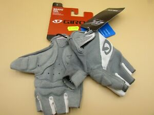Giro bravo gel fingerless cycling gloves bike cycle size small BNWT grey suede