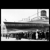 #php.01346 Photo SS NORMANDIE CGT PAQUEBOT OCEAN LINER