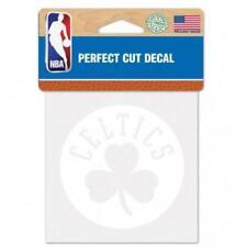 "Boston Celtics Perfect Cut 4""x4"" White Decal (NEW) Auto Sticker Emblem NBA"