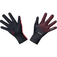 Gore Wear C3 Gore-Tex Infinium Stretch Mid Gloves - Black/Red