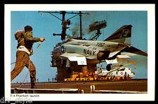 F-4 Phantom Launch, USS Ranger CV-61 postcard US Navy ship aircraft carrier