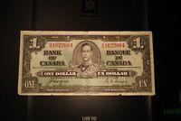 1937 $1 Dollar Bank of Canada Banknote BN1622064