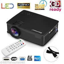 Excelvan MINI 7000 Lumen LED 3D HD 1080p Projector Home Cinema HDMI USB VGA USA