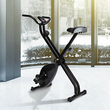 Stationary Exercise Bike Upright Magnetic Workout Trainer Fitness Home Gym Black