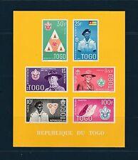 Togo bloc  scoutisme   de 1961    num: 5  dents figurées fond jaune   **