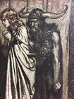 1911 Norse Viking Wife Betrayed Twilight of the Gods Arthur Rackham Print