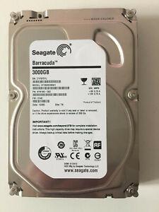 """ST3000DM001 Seagate Barracuda 3TB 7200RPM 3.5"""" 64MB Internal Drive HDD 3000Gb"""