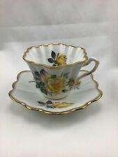Vintage Rosina Yellow Rose Tea Cup and Saucer Bone China - England Numbered 5490
