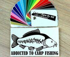 Carp Fishing Car Sticker Vinyl Decal Adhesive Windscreen Bumper Tailgate Laptop