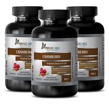 Body detox - CRANBERRY CONCENTRATE 50:1 Stomach Health 3 Bottles 180 Capsules