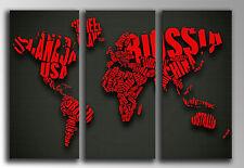 Cuadro fotografico base madera, 87 x 62 cm, Mapa Mundial, ref. 26144