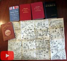 Paris guidebook lot 1894-1947 5 different Baedeker Hotel guide Hachette Leconte