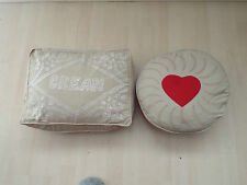 cream/jammy dodger biscuit cushion novelty/quirky/Sass & Belle Free P+P