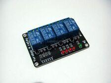 Scheda 5V DC 4 relè, relais, relay, Arduino, microcontroller, pic, avr, 250V-10A